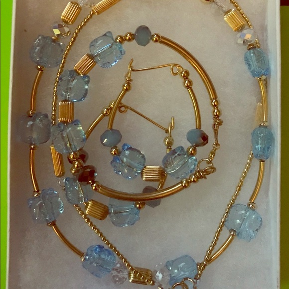 821621c53 handmade Jewelry | 14kt Gold Filled Beaded Hello Kitty Necklace Set ...